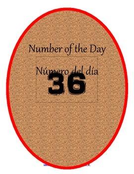 Bilingual Number of the Day Bundle/Número del día