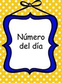 Numero del dia (Number of the day)