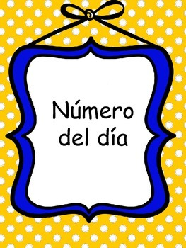 Numero del dia (Number of the day)