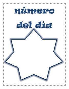 Numero del dia Poster (SPANISH)