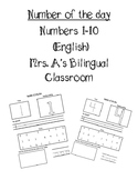 Numero del dia (English numbers 1-10)