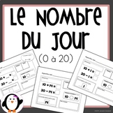 Nombre du Jour 0-20 / Number of the Day (French Product)