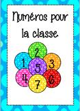 Numéro pour la classe