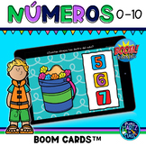 Números 0-10 Boom Cards™ in Spanish