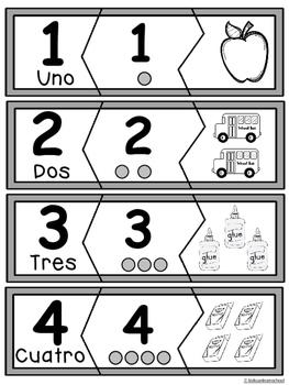 Numeros 0-10-Rompecabezas-Back to School Edition