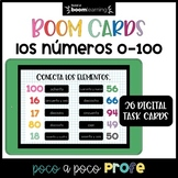 Números 0-100 Spanish numbers Boom Cards™ (distance learning)