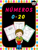 Numeros 0-20, Numbers 0-20 in Spanish writing, identifying