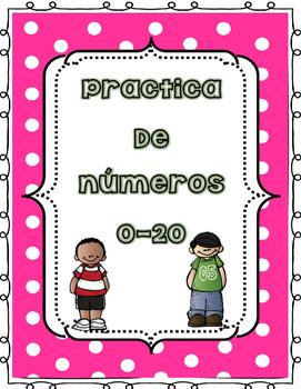 Numeros # 0-20 traza, corta y pega