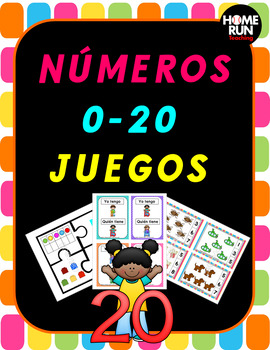 Numeros 0-20 juegos, Spanish Numbers 0-20 Games, Number Recognition