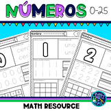 Numbers 0-25 in Spanish l Números del 0-25