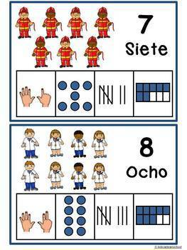 Numeros 1-10-BUNDLE-Number recognition in Spanish