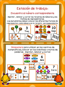 Números 1-10-Edición de Halloween