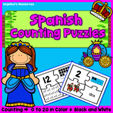 Spanish Numbers 1-20 : Counting in Spanish - Fairy Tale Counting Puzzles