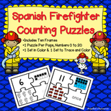 Spanish Numbers 1-20 : Counting in Spanish - Fire Safety Theme Puzzles