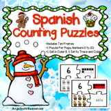 Spanish Christmas Activities : Los Numeros -  Christmas Spanish Counting Puzzles