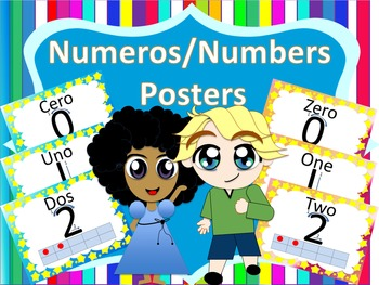Numeros/Numbers Posters