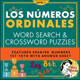 Numeros Ordinales - Spanish Ordinal Numbers 1-10 Crossword