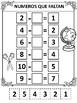 Numeros Que Faltan- Matematicas- Missing Numbers- Restas - Subtraction