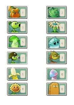 Números casilleros (Plants vs Zombies)