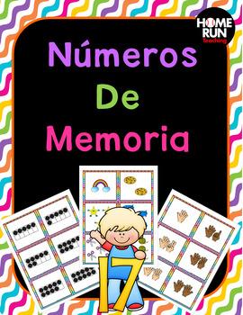Numbers 1-20 Matching Memory Game; Números de memoria