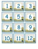 Minion Números de calendario