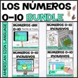 Los números del 0-10 | Spanish numbers digital and print activities BUNDLE