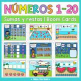 Números del 1 -20 Boom cards | Sumas, restas y comparar |