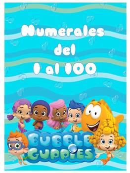 Números del 1 al 100 Motivo Bubble Guppies