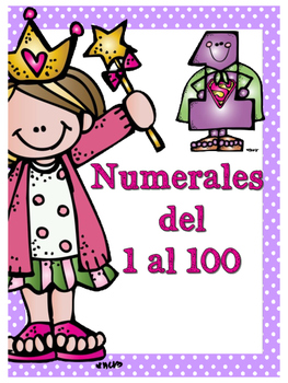 Números del 1 al 100 Motivo Melonheadz