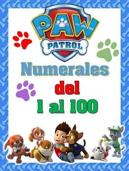Números del 1 al 100 Motivo Paw Patrol