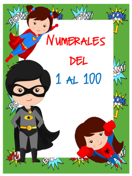 Números del 1 al 100 Motivo Súper Héroes