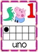Números del 1 al 20 Motivo Peppa Pig
