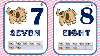 Números en Ingles para Niños Listo para Imprimir