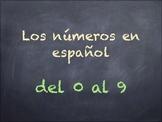 Números en español del 0 al 9