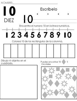 Números Y Correspondencia 1 20 Listo Para Imprimir Español