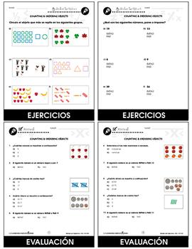 Números y Operaciones: Contar y ordenar objetos Gr. PK-2