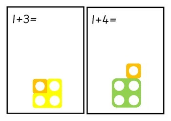 Numicon Addition Activity Cards