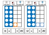 Numicon-style Addition Missing Numbers to 20   KS1 Maths