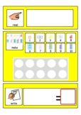 Maths Year 1 Addition Template   Number Shapes   Ten frame   SEN