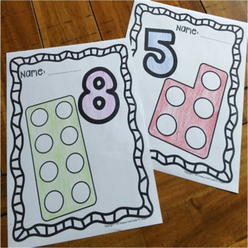 Numicon Coloring Pages 1 - 10