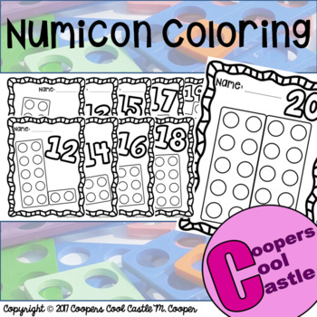Numicon Coloring Pages 11 - 20