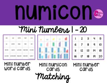 Mini Numicon Matching Cards