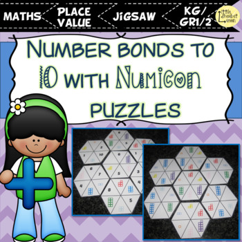 numicon number bonds to 10 puzzles jigsaws by little sherbet lemon. Black Bedroom Furniture Sets. Home Design Ideas