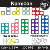 Numicon / Number Frames 1-10 Clipart {Arty Clips}