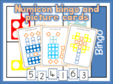 Numicon bingo numbers 1-6, 5-10 and numicon picture match