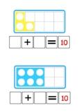 Number Shape bonds to 10- sum sentence | year 1 Maths | Ten Frames