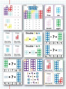 Numicon games / friends of ten / doubles / number facts / addition / subtration