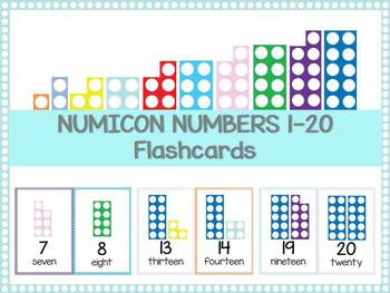 Numicon numbers 1-20 / Numicon flashcards / Number flashca