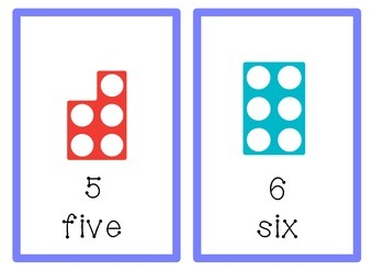 Numicon numbers 1 to 20 flashcards