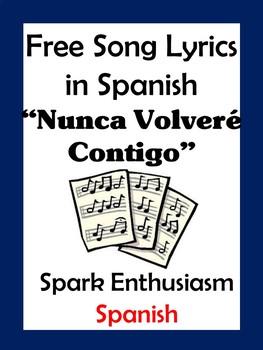 Nunca Volvere Contigo Song Lyrics en espanol / Never Ever...